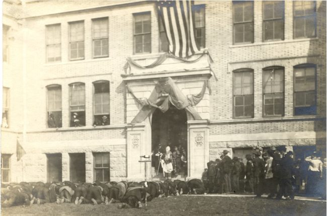 1908 George Menefee & Faculty at Norwood Hall