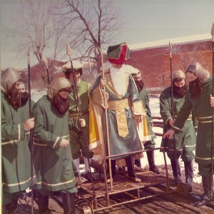 1975 St. Patrick and his Court on the Railcar