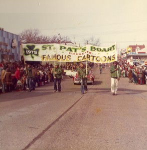 1975 St. Pats Board Presents the Parade theme FAMOUS CARTOONS