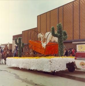 1977 Broken Wagon Parade Float