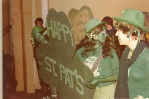 1977 HAPPY ST. PATS Shamrock Sign