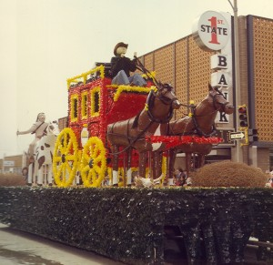 1977 Horse Drawn Carriage Parade Float