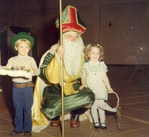 1977 Photo of St. Patrick with young Coronation Participants