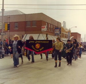 1977 SMSU Independant Marching Band Parade Participant