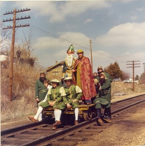 1977 St. Pat and his Court on the Railcar