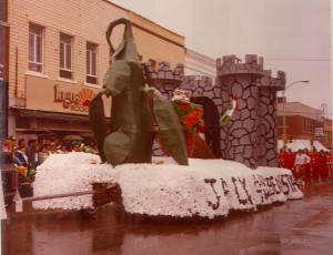 1979 Jack and the Beanstalk Float in the Parade