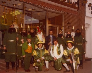 1979 St. Pat and his Court with Business Owner