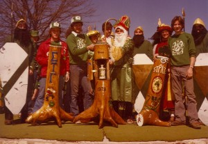 1979 St. Pat and his Court with the Cudgels