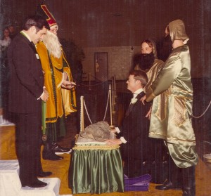 1980 Coronation Ceremony with Blarney Stone