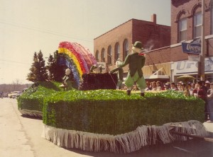 1980 Fishing Leprechaun Parade Float