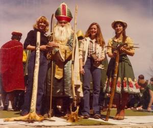 1980 St. Pat and Walking Sticks at the Puck