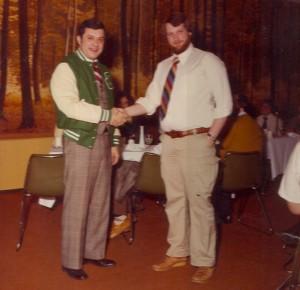 1980 St. Pats Board Member Shaking Hands