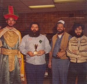 1980s St. Pat giving Trophy Photo