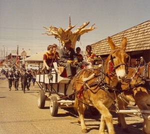 1981 Horse Drawn Cudgel Parade Float