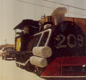1981 Train Float in St. Pats Parade