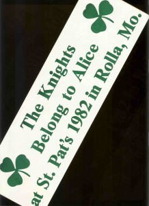 1982 Bumper Sticker Item