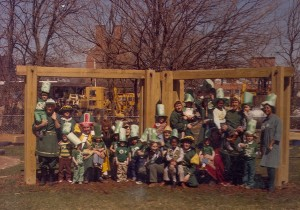 1982 Group Photo of St. Patrick and his Court and the youth