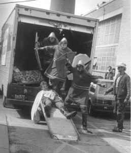 1986 Court of St. Patrick Exiting a Truck.