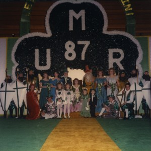1987 Coronation Photo of St. Pat and his Court