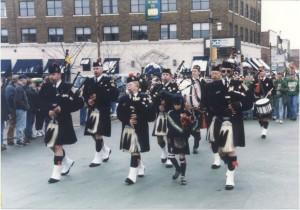 1999 St. Pats Parade Participants with Bagpipes
