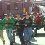 2001 St. Pat and his Court in the Parade