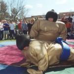 2001 Sumo Wrestling game at Follies