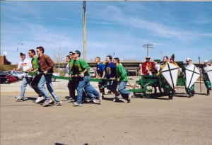 2002 St. Pat and his Court on the Manure Spreader