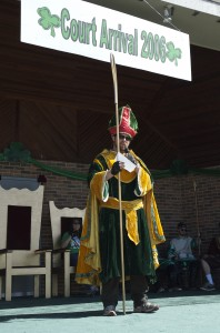 2006 St. Pat speaking during Court Arrival Ceremony