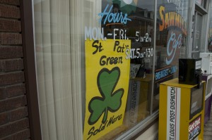 2007 St. Pats Green Sold Here Sign