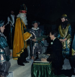 Coronation Ceremony Photo with Blarney Stone