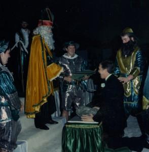Coronation Ceremony Photo with Blarney Stone