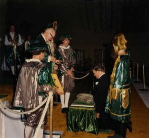 Coronation Ceremony with Blarney Stone