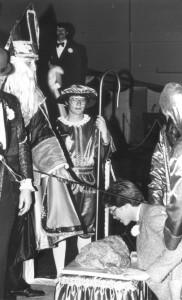 Coronation Photo of St. Pat Knighting a Man
