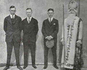 Group photo of some Men with St. Patrick