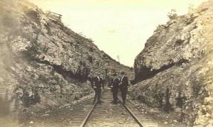 Men on Railroad Tracks awaiting Court