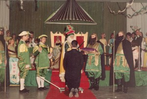 St. Pat Knighting man at Coronation