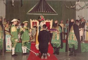 St. Pat Knighting man at Coronation