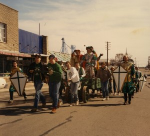 St. Pat, his Court, and Parade Pullers