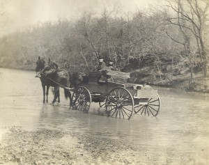 Wagon in Water