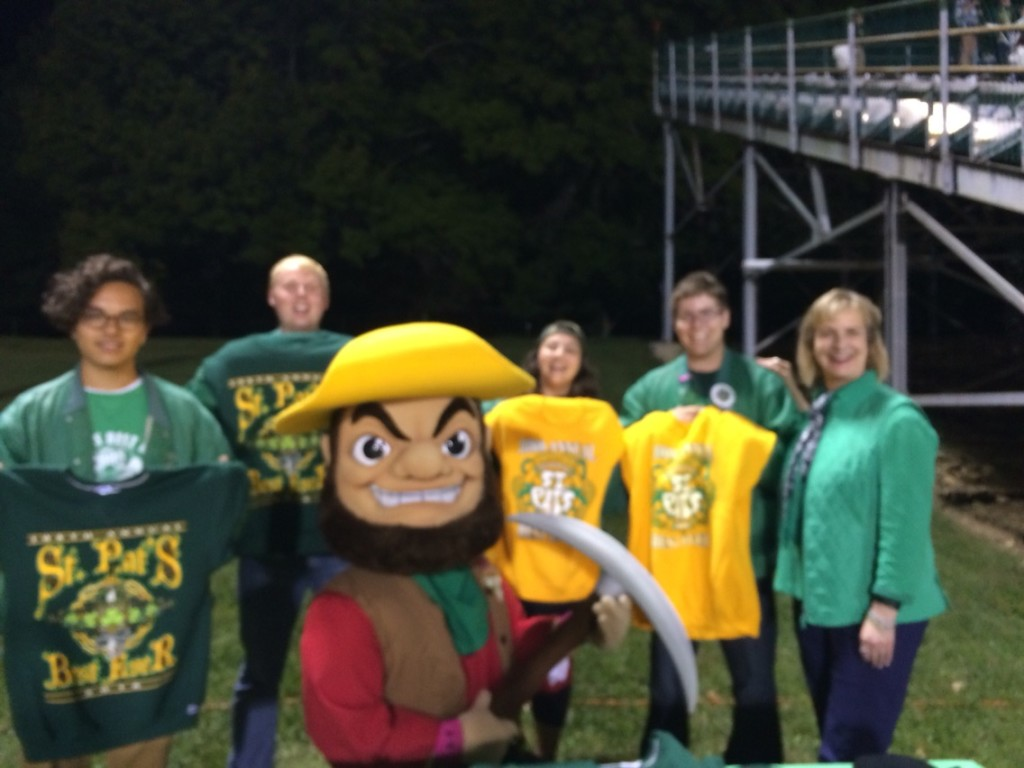 St. Pats Reps with Joe Miner and Chancellor Cheryl B. Schrader