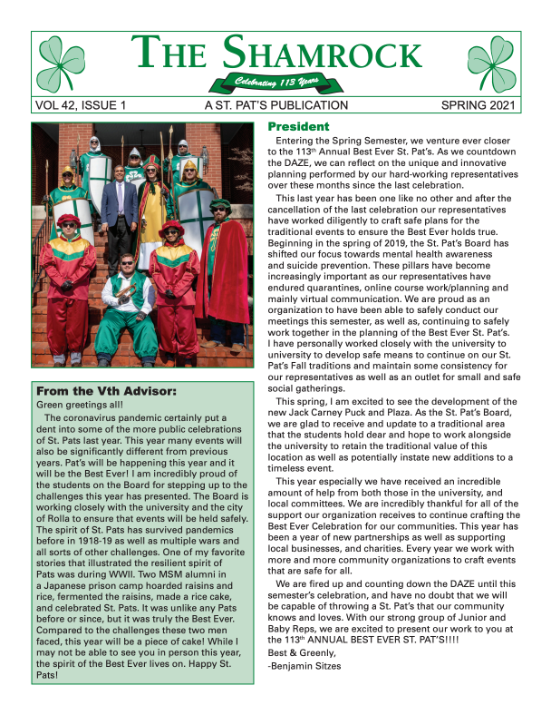 shamrock-newsletter