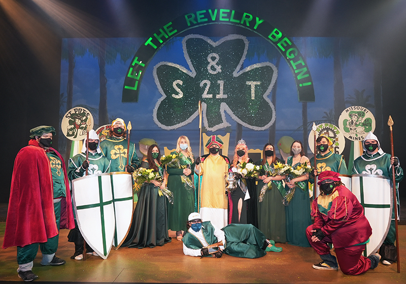 2021 St. Patrick and his Court with the Queen of Love and Beauty and her Court